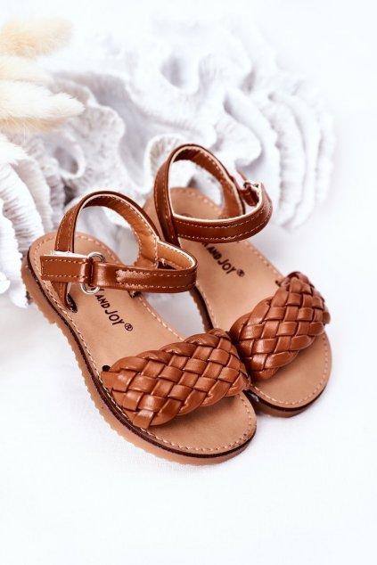 Detské sandále farba hnedá kód obuvi 283-C CAMEL / KHAKI