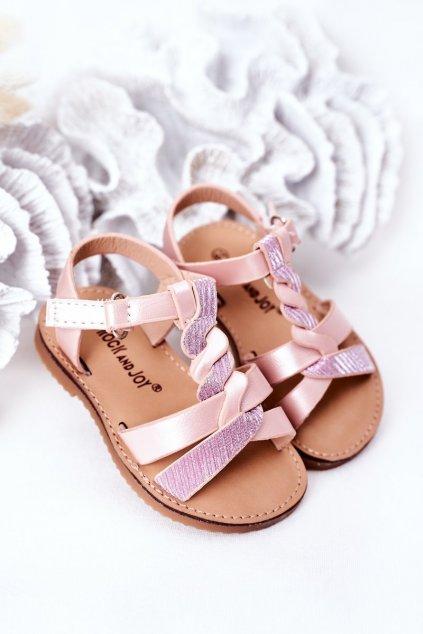 Detské sandále farba ružová kód obuvi 276-B PINK / CHAMPAGNE