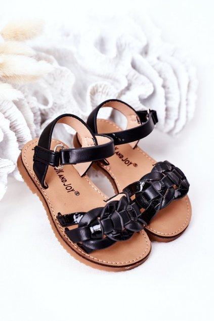 Detské sandále farba čierna kód obuvi 282-A BLACK