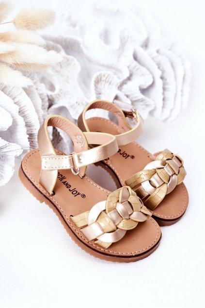 Detské sandále farba žltá kód obuvi 282-C GOLD