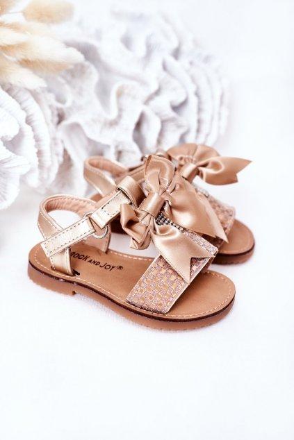 Detské sandále farba žltá kód obuvi 270-C GOLD / CHAMPAGNE