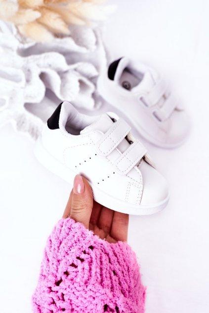 Detské tenisky farba čierna kód obuvi 805-A WHITE/BLK