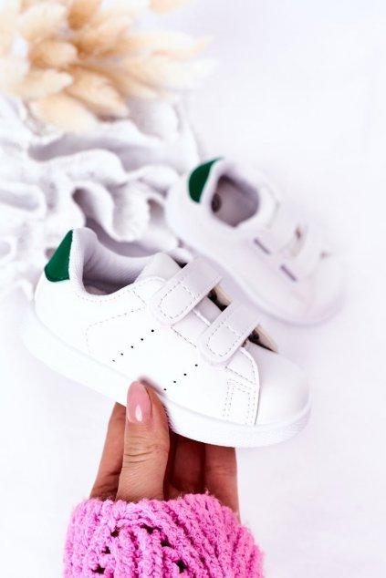 Detské tenisky farba biela kód obuvi 805-E WHITE/GREEN