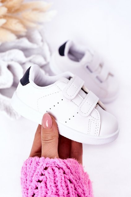 Detské tenisky farba biela kód obuvi 805-B WHITE/NAVY