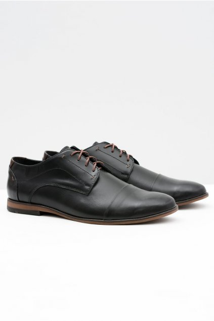 Pánske poltopánky farba čierna kód obuvi 376 BLK