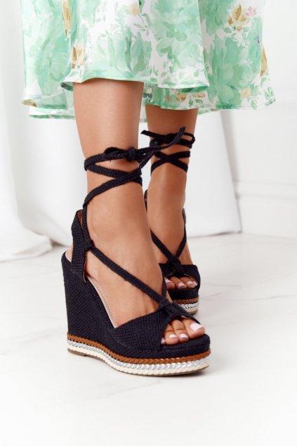 Dámske sandále farba čierna kód obuvi K-16 BLACK