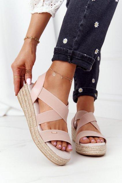 Dámske sandále farba ružová kód obuvi HH274413 PINK
