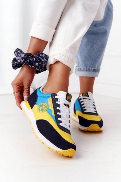 Dámske tenisky farba žltá kód obuvi HH274525 YELLOW/SKY BLUE