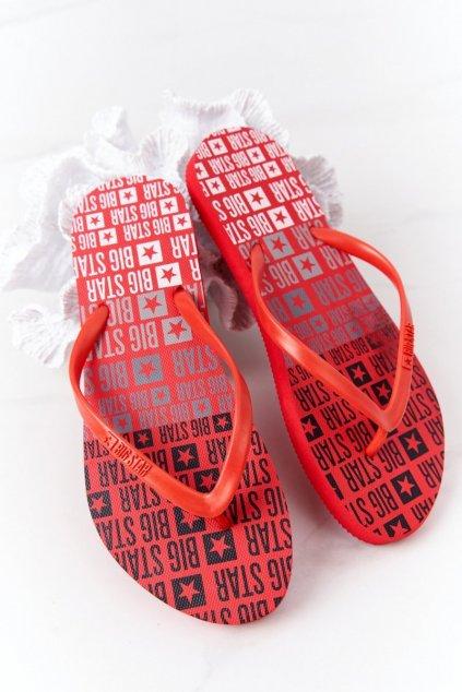 Dámske šľapky farba červená kód obuvi FF274A305 RED