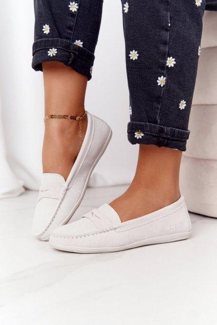 Dámske mokasíny farba hnedá kód obuvi HH274665 OFF WHITE