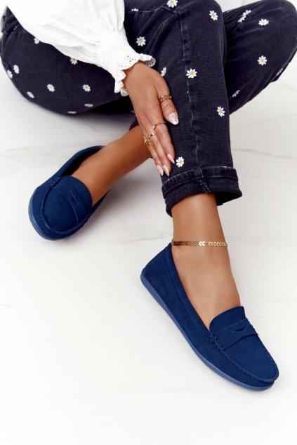 Dámske mokasíny farba modrá kód obuvi HH274663 NAVY