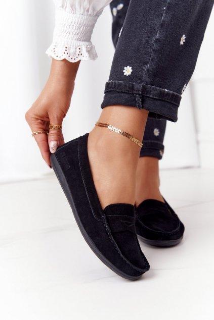 Dámske mokasíny farba čierna kód obuvi HH274662 BLACK