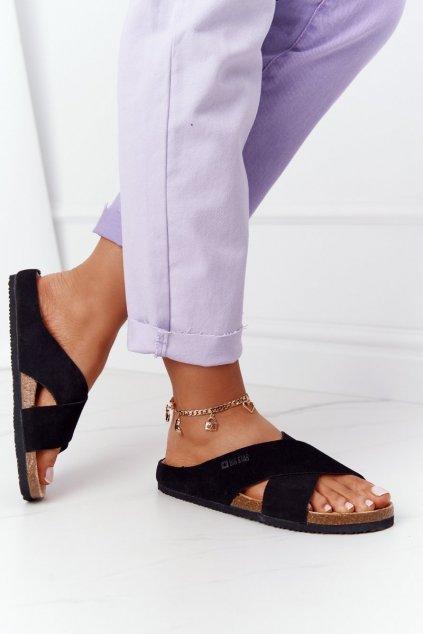 Dámske šľapky farba čierna kód obuvi HH274640 BLACK