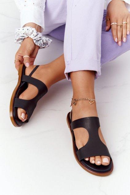 Dámske sandále farba čierna kód obuvi HH274715 BLACK
