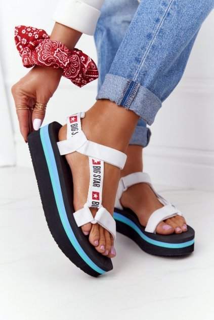 Dámske sandále farba čierna kód obuvi HH274A087 WHTE