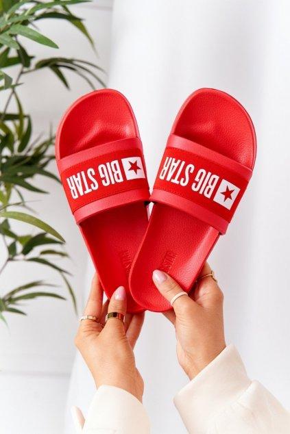 Dámske šľapky farba červená kód obuvi HH274A014 RED