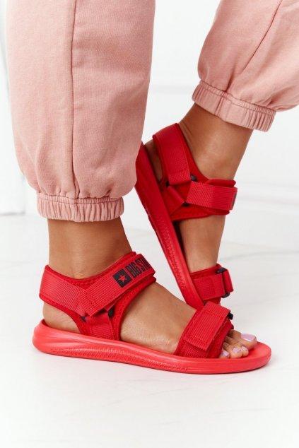 Dámske sandále farba červená kód obuvi HH274A027 RED