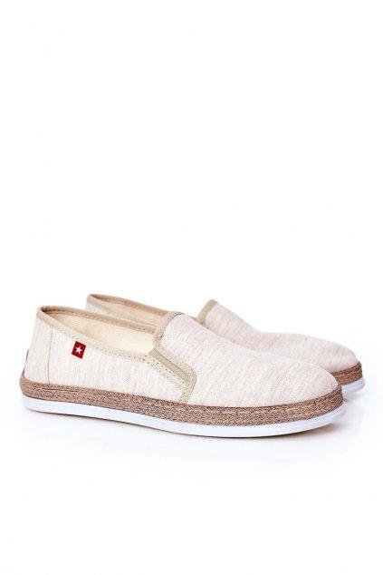Pánske poltopánky farba hnedá kód obuvi HH176001 BEIGE