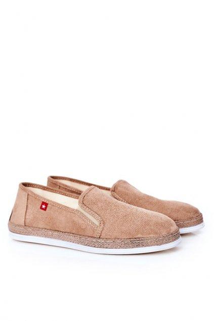 Pánske poltopánky farba hnedá kód obuvi HH176003 BEIGE