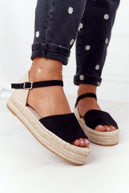 Dámske sandále farba čierna kód obuvi A663 BLACK