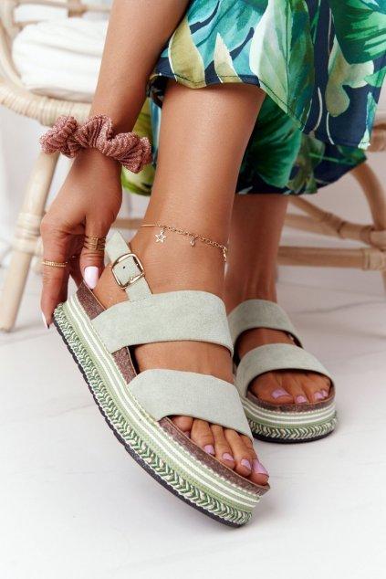 Dámske sandále farba viacfarebná kód obuvi 7857 GREEN