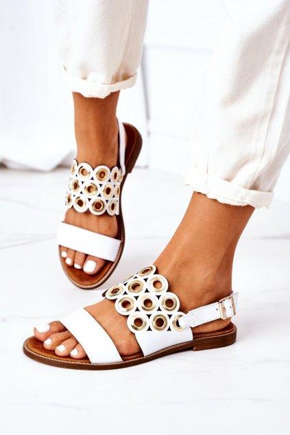 Dámske sandále farba biela kód obuvi 3042 WHITE