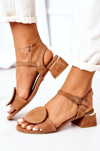 Dámske sandále farba hnedá kód obuvi 5198A-29/00-5 RUDY