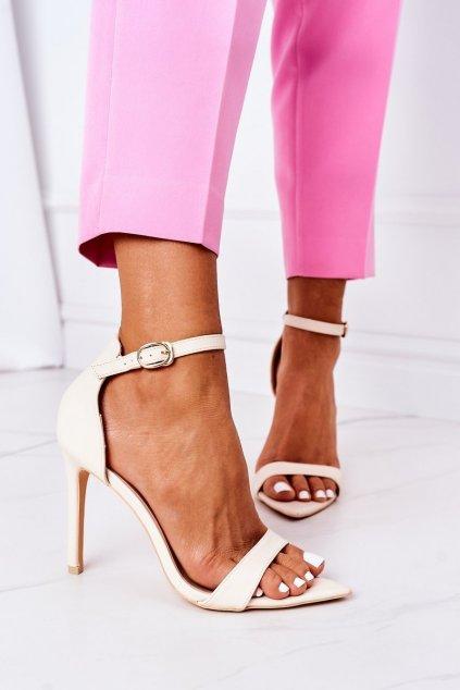 Dámske sandále farba hnedá kód obuvi C0982-2B3 BEIGE