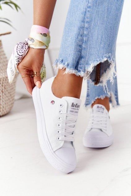 Dámske tenisky farba biela kód obuvi LCW-21-31-0082L WHITE