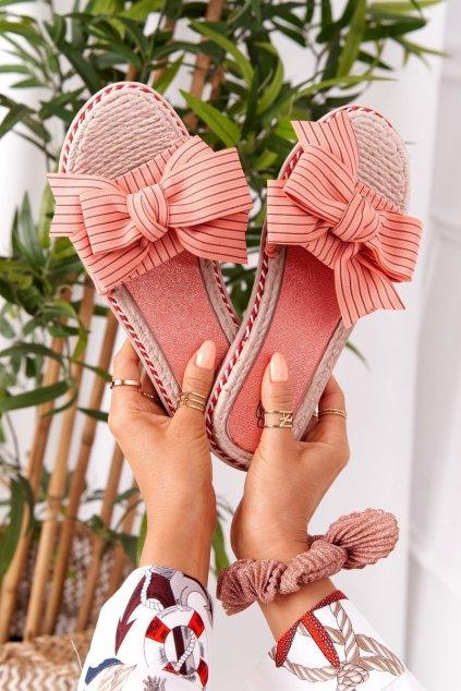 Dámske šľapky farba ružová kód obuvi K111 PINK WATERMELON