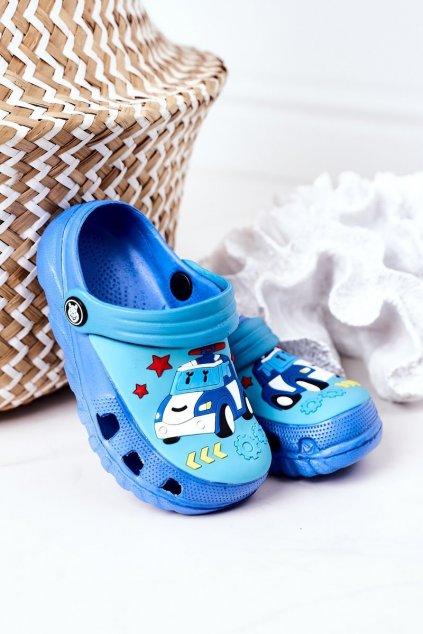 Detské šľapky farba modrá kód obuvi 8938CC ROYAL PEACOCK BLUE