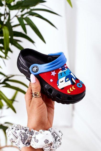 Detské šľapky farba čierna kód obuvi 8938CC BLACK ROYAL