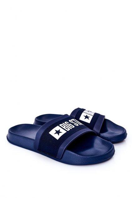 Pánske šľapky farba modrá kód obuvi HH174833 NAVY