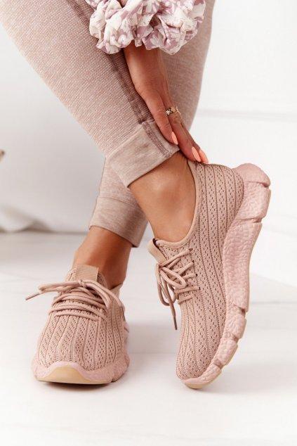 Dámske tenisky farba hnedá kód obuvi DDQ207-63 KHAKI