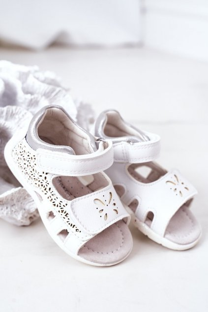 Detské sandále farba biela kód obuvi HX11 SILVER