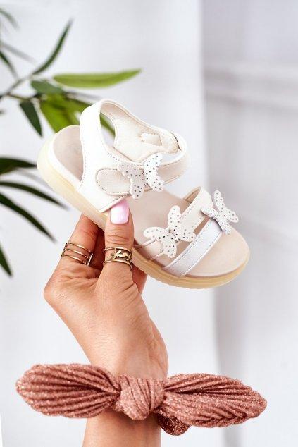 Detské sandále farba biela kód obuvi GX181 WHITE