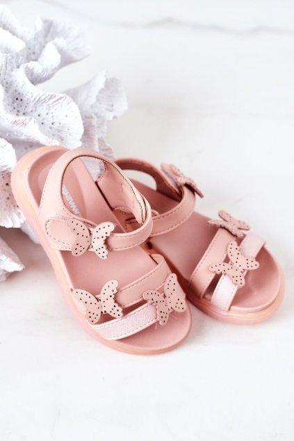 Detské sandále farba ružová kód obuvi GX181 PINK