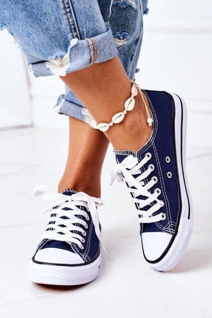 Dámske tenisky farba modrá kód obuvi XL03 D.BLUE