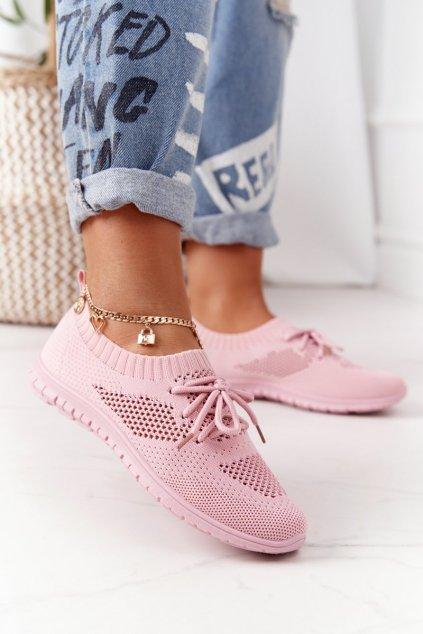 Dámske tenisky farba ružová kód obuvi 9TX02-1020 PINK