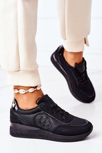 Dámske tenisky farba čierna kód obuvi 21SP26-4274 BLACK