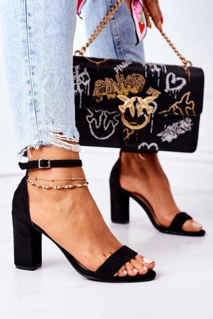Dámske sandále farba čierna kód obuvi CD59 BLACK