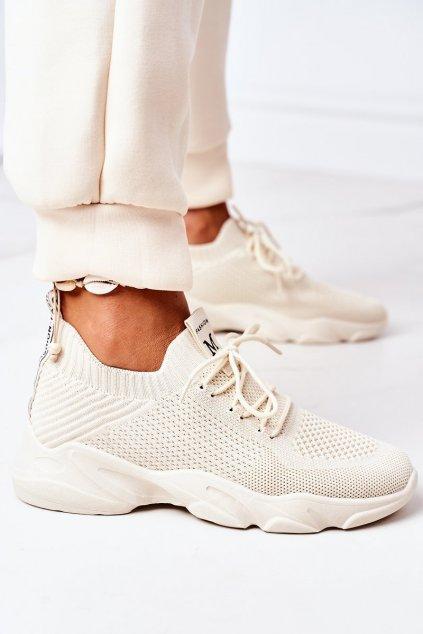 Dámske tenisky farba hnedá kód obuvi NB501 BEIGE