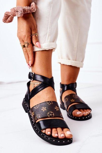 Dámske sandále farba čierna kód obuvi NS189 BLACK