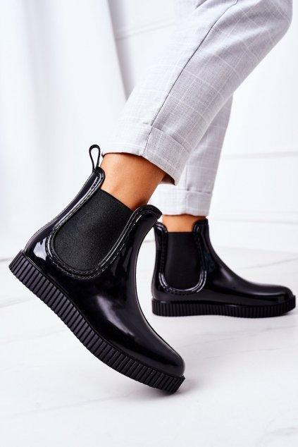 Dámske gumáky farba čierna kód obuvi DC14 BLK