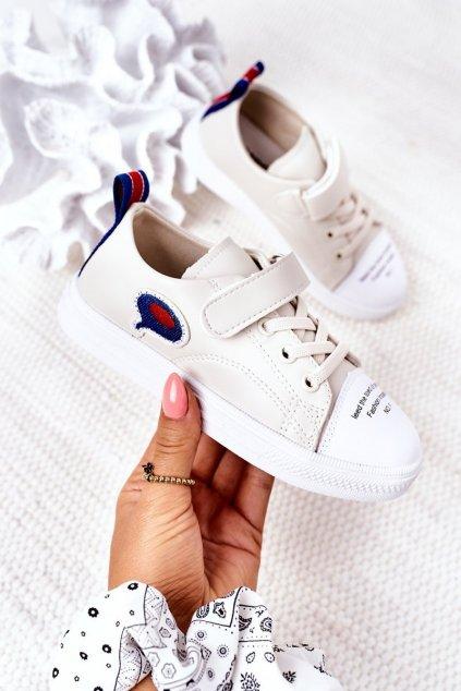 Detské tenisky farba hnedá kód obuvi C32-1 BEIGE