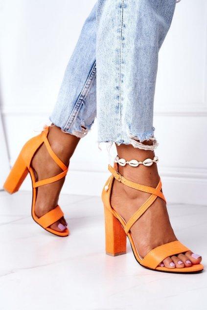 Dámske sandále farba oranžová kód obuvi GG88 ORANGE
