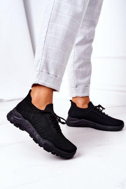 Dámske tenisky farba čierna kód obuvi LA171 ALL BLACK