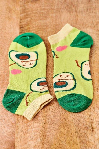 Dámske ponožky farba zelená kód SK02870-4 AWOKADO