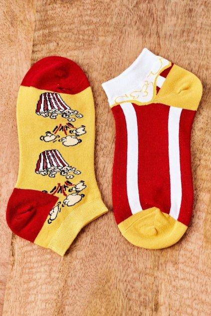 Dámske ponožky farba žltá kód SK02870-1 POPCORN