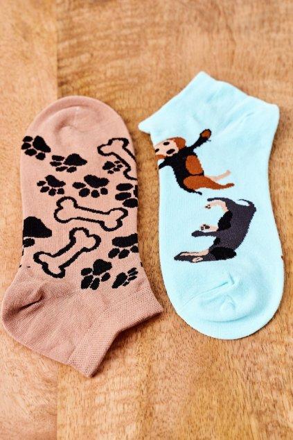 Dámske ponožky farba hnedá kód SK02870-5 PIESKI